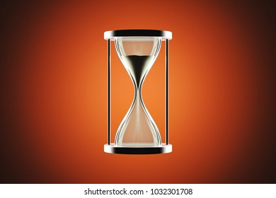 Hourglass with warm background.