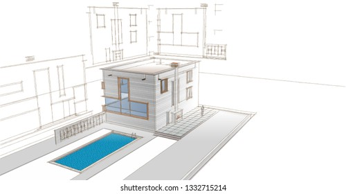 House  3D illustration