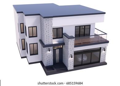house 3D illustration isolate on white background