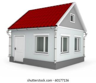 House. 3d image isolated on white background.