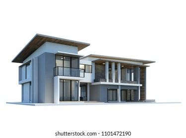 house 3d rendering on a white background.