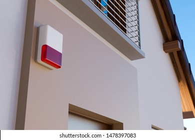 House and alarm system, 3D illustration
