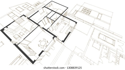 Cad Drawing Background Stock Illustrations Images Vectors
