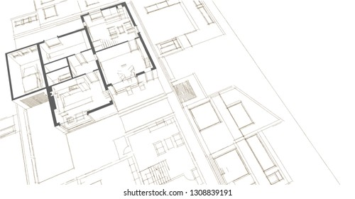 Interior House Drawing Images Stock Photos Vectors