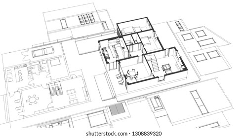 3d Printed House Stock Illustrations Images Vectors