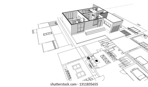 Architectural 3d Diagram