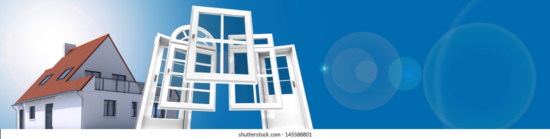 A house with a choice of doors and windows