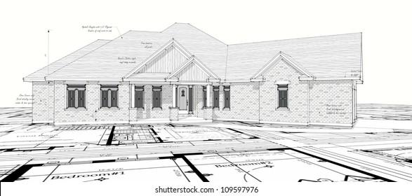 House design architecture construction concept