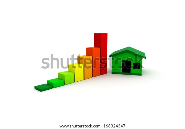House with Energy Efficiency Levels.
