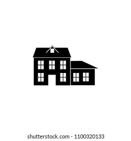 house with an extension icon. Element of travel icon for mobile concept and web apps. Thin line house with an extension icon can be used for web and mobile. Premium icon on white background