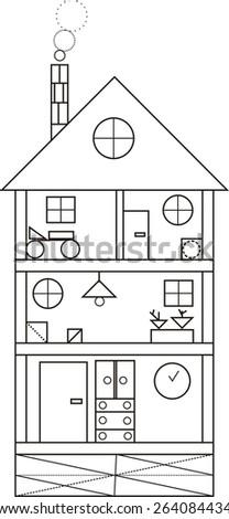 House Geometric Shapes Stock Illustration 264084434 Shutterstock