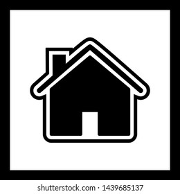 House Icon In Trendy Style Isolated Background