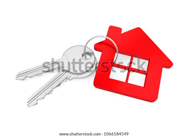 House Key Isolated. 3D rendering