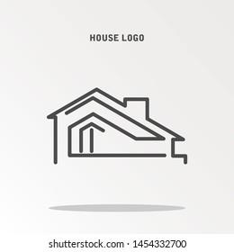 House Logo Template Design. Emblem, Concept Design, Creative Symbol, Icon