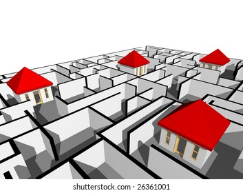 house in maze