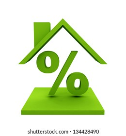 House with percent symbol