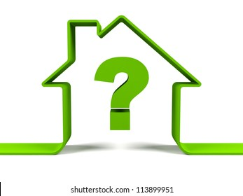 House with question mark