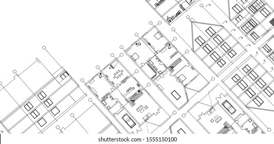 house sketch concept 3d illustration