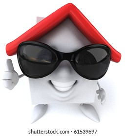 House with sunglasses