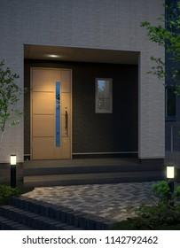 Housing Entrance, 3D Render.
