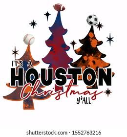 Houston, TX, Texas, Christmas Trees, Baseball, Soccer, Football