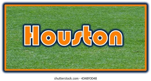 Houston Word Clip Art