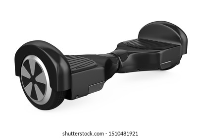Hoverboard Self Balancing Scooter Isolated. 3D rendering