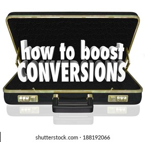 How to Boost Conversions Briefcase Sales Increase Tips Advice Help