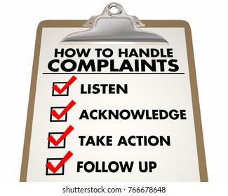 How to Handle Complaints Customer Service Checklist 3d Illustration
