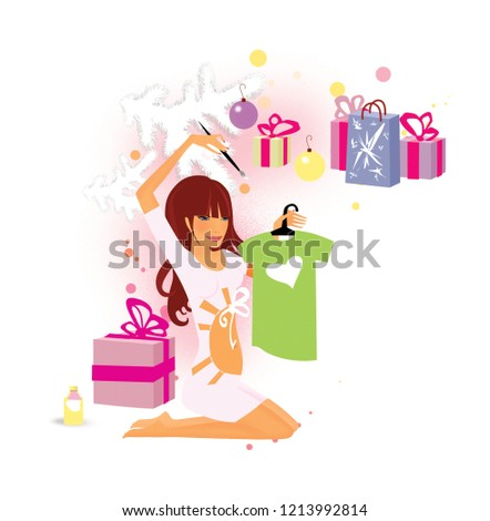 How Report Pregnancy Christmas Gifts Under Stock Illustration ...