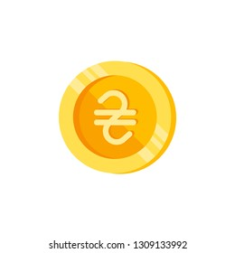 Hryvna, coin, money color icon. Element of color finance signs. Premium quality graphic design icon. Signs and symbols collection icon for websites, web design on white background