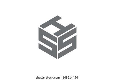 HSS initial logo design ilustration symbol