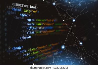 html programming web developing computer coding language language for webpage. mixed media