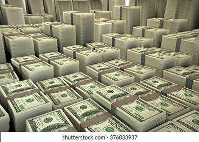 huge group of dollar stacks