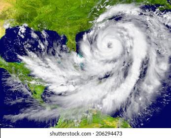 Obrovský hurikán mezi Floridou a Kubou. Prvky tohoto obrazu zařízené NASA