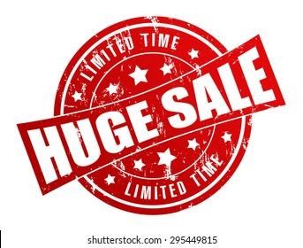 huge sale stamp