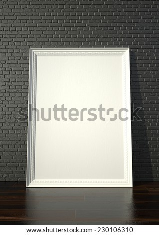 Huge White Blank Picture Frame Abstract Stock Illustration 230106310