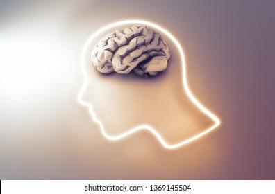 Human brain - intelligence and creativity concept 3D illustration