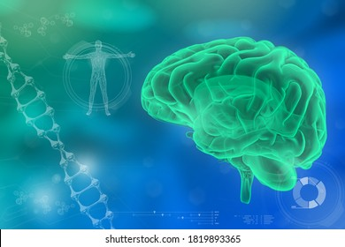 Human brain, neurosurgery study concept - very detailed modern texture or background, medical 3D illustration
