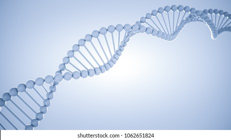human dna scientific abstract white background with copy space