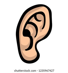 Human Ear Listening illustration