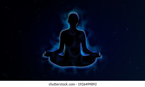 Human energy body and aura in Meditation Concept