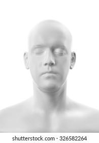 Human head white