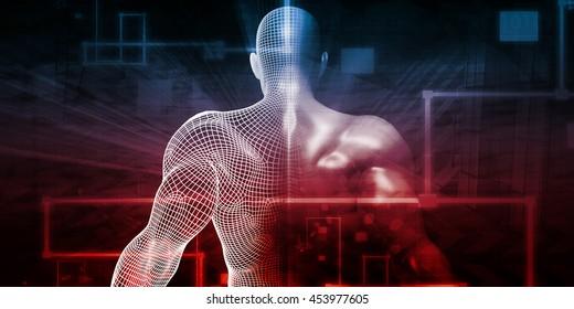 Human Implant Concept Technology as a Illustration 3D Render Illustration