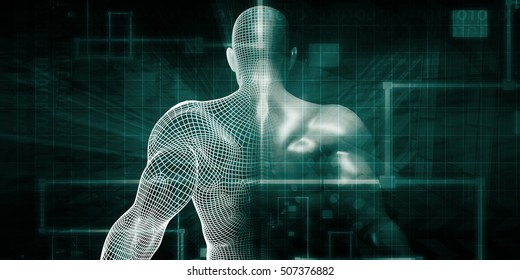 Human Implant Concept Technology as a Illustration 3d Illustration Render