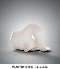 A human mask - psychology concept illustration