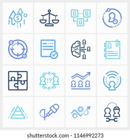 Human resource icon set and team intelligence with hr flow chart, conflict management and recruitment. Safety related human resource icon  for web UI logo design.