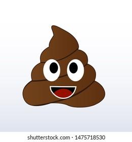 Humor shit poop emoji funny and kawaii character