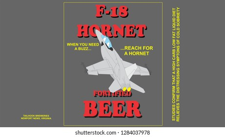 humorous fake beer lable