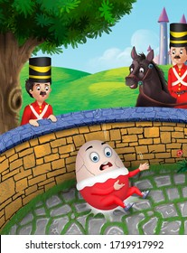 Humpty dumpty rhyme artwork for kids
